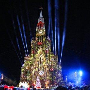 Sonho de Natal na Catedral de Pedra de Canela-RS