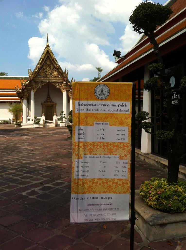 A escola de Massagem no templo de Wat Pho