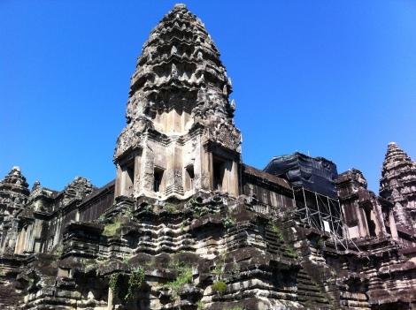 Detalhe de uma das torres de Angkor Wat