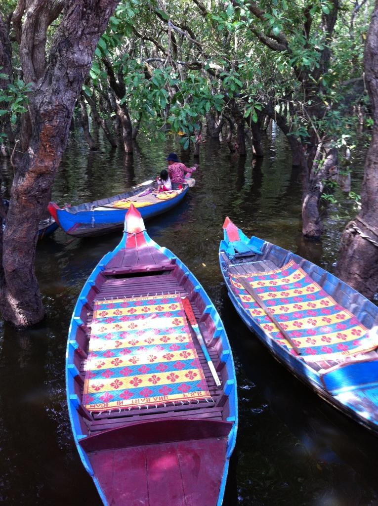 Canoas a espera dos visitantes.