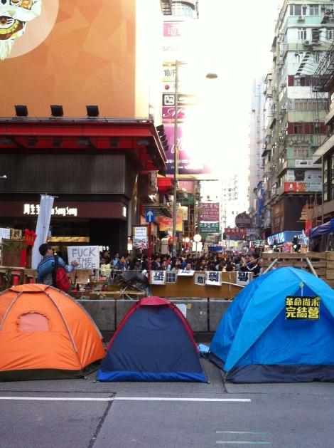 Protestos nas ruas de Hong Kong.