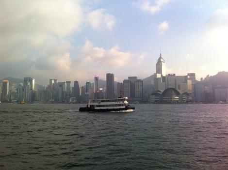 Vista da Baía de Hong Kong desde a Rua dos Artistas