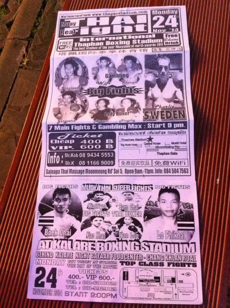 Panfleto de uma luta de Muai Thai