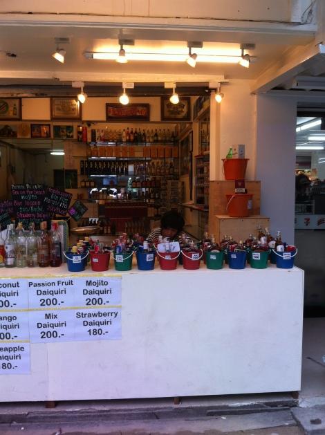 Baldinhos de bebidas para todos os gostos.