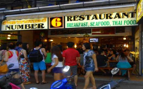 Restaurante N.6 em Patong Beach