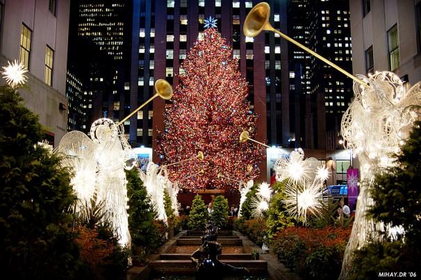 Decoração de Natal em Nova Iorque.