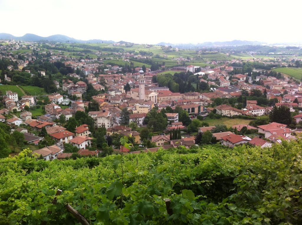Vista panorâmica de Valdobbiadene.