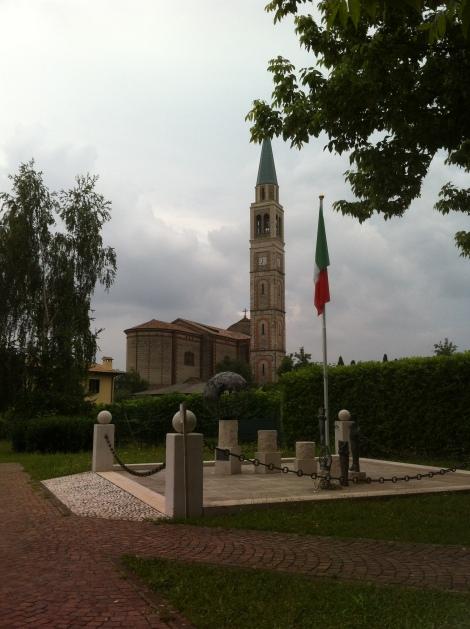 Catedral onde meus tataravós se casaram em Col San Martino.