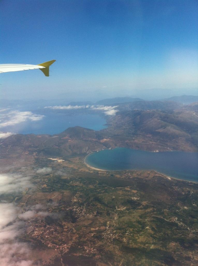 Vista aérea de Cefalonia.