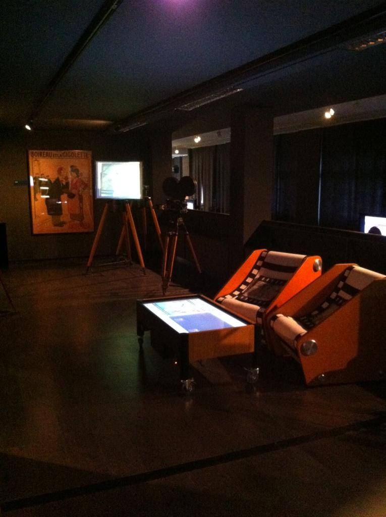 Uma das salas interativas do Museu de Cinema.