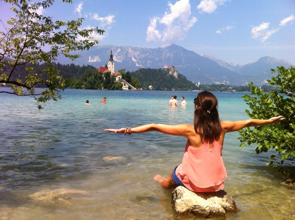 Eu e o a paz do Lago de Bled.