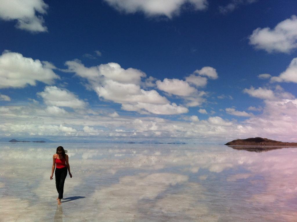 Espelho d'agua do Salar de Uyuni
