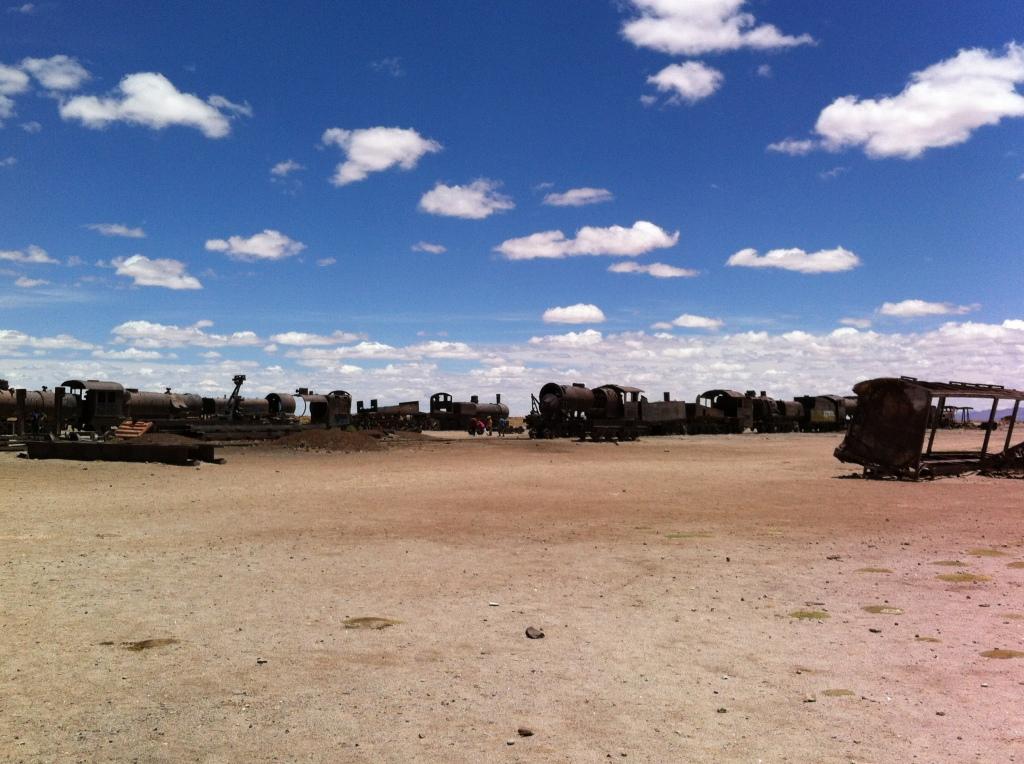 Cemitério de trens próximo à cidade de Uyuni.