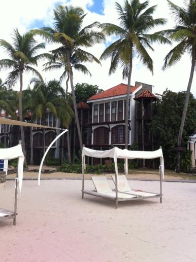 Área Privada do Hotel Rendevouz em Castries