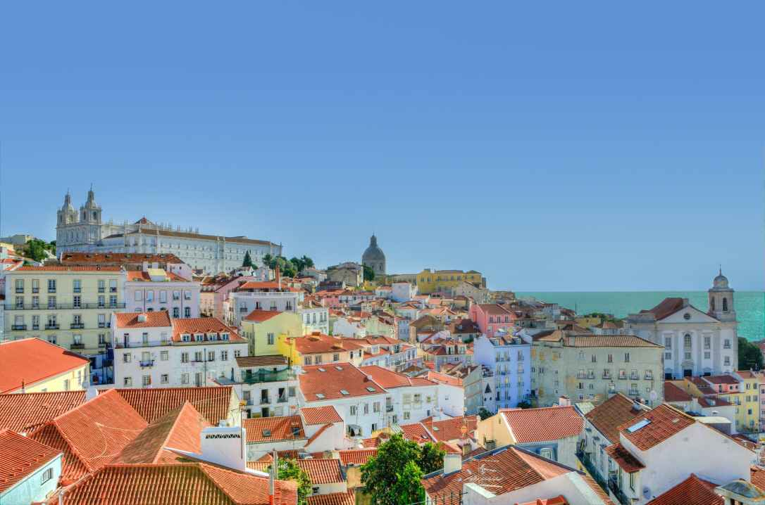 city lisbon houses portugal